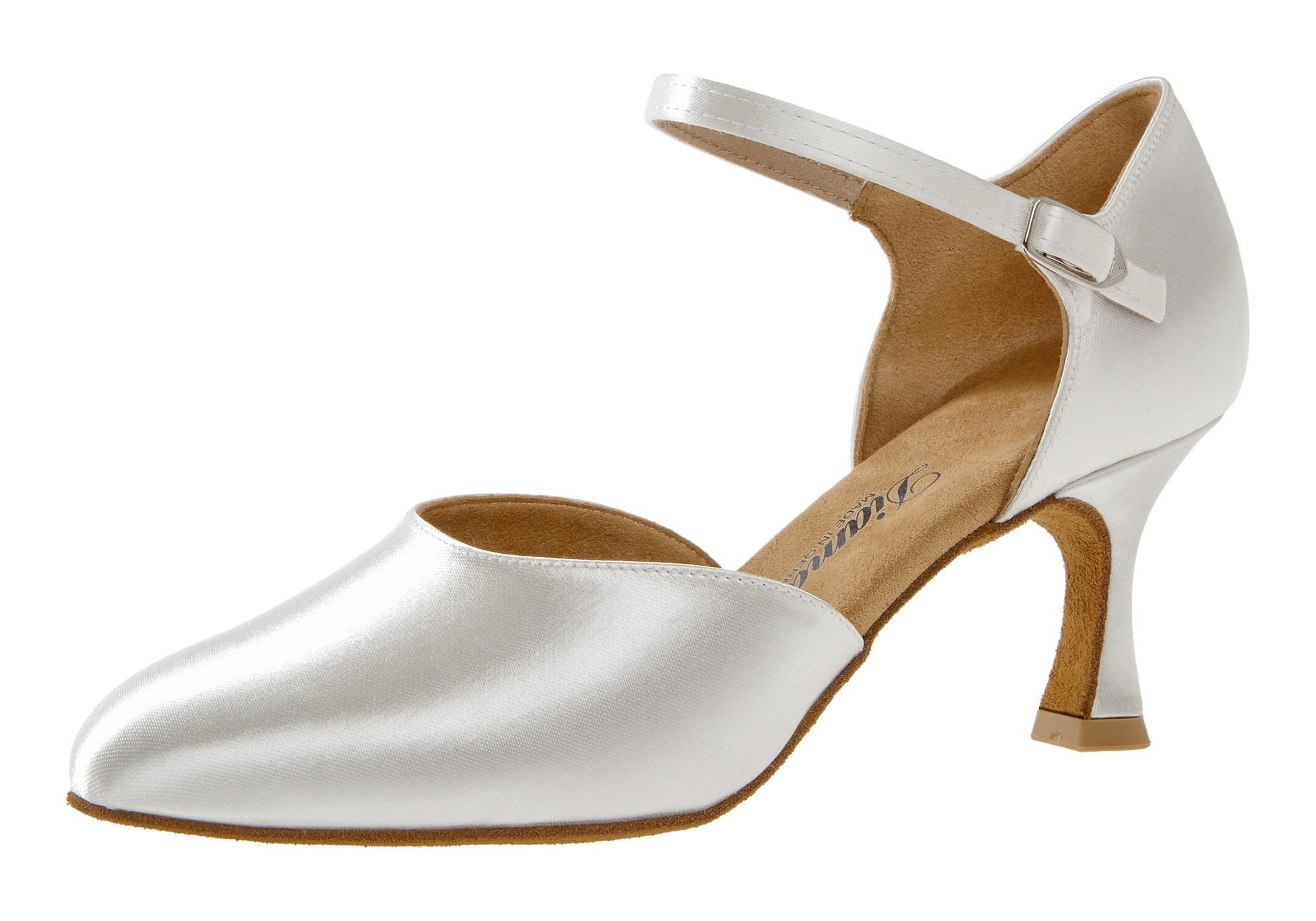 Diamant Damen Tanzschuh Standard 051-085-092 weiß Satin