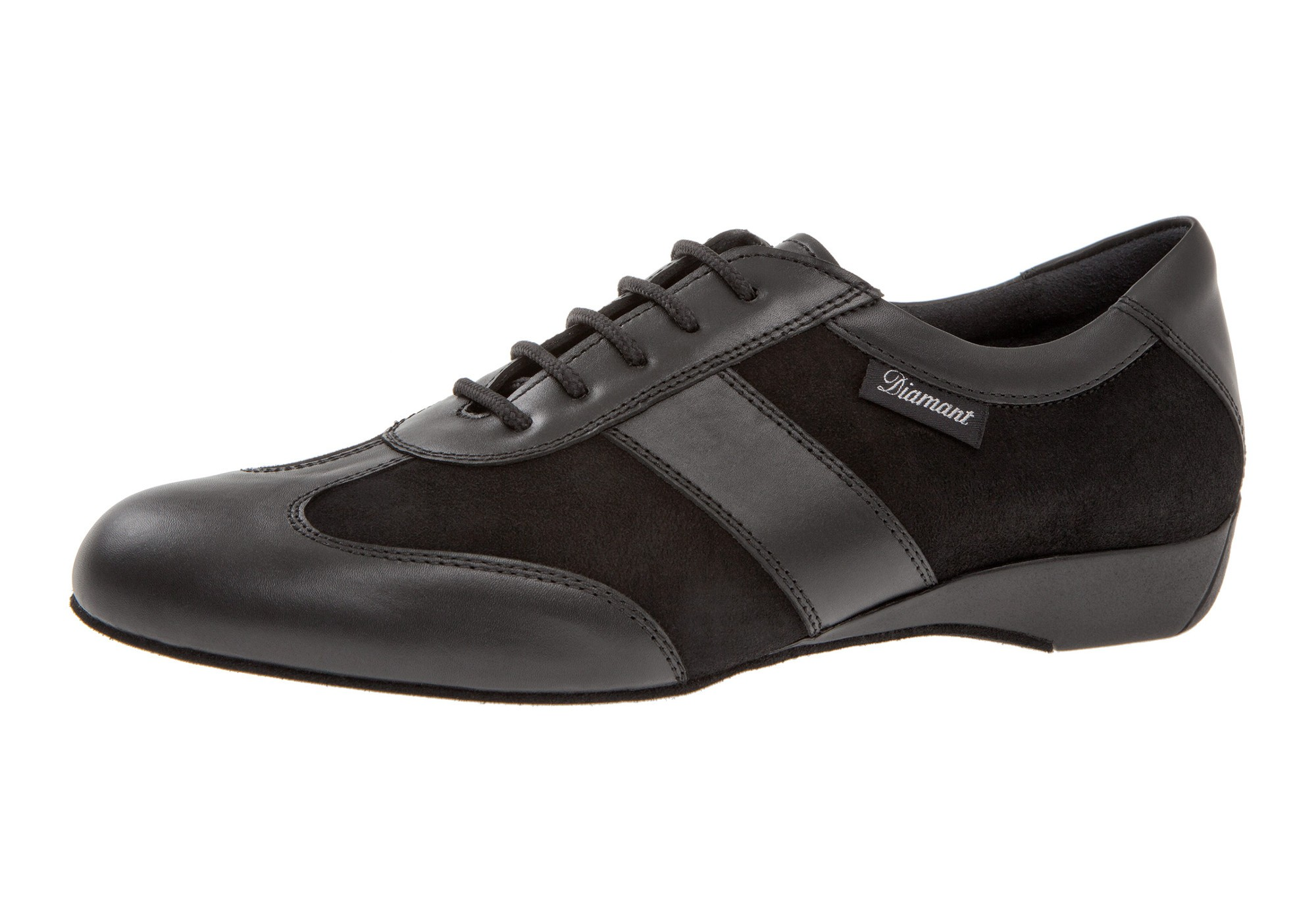 Diamant Herren Tanzschuh Ballroom Sneaker 123-225-070 schwarz Nappaleder / schwarz Velourleder