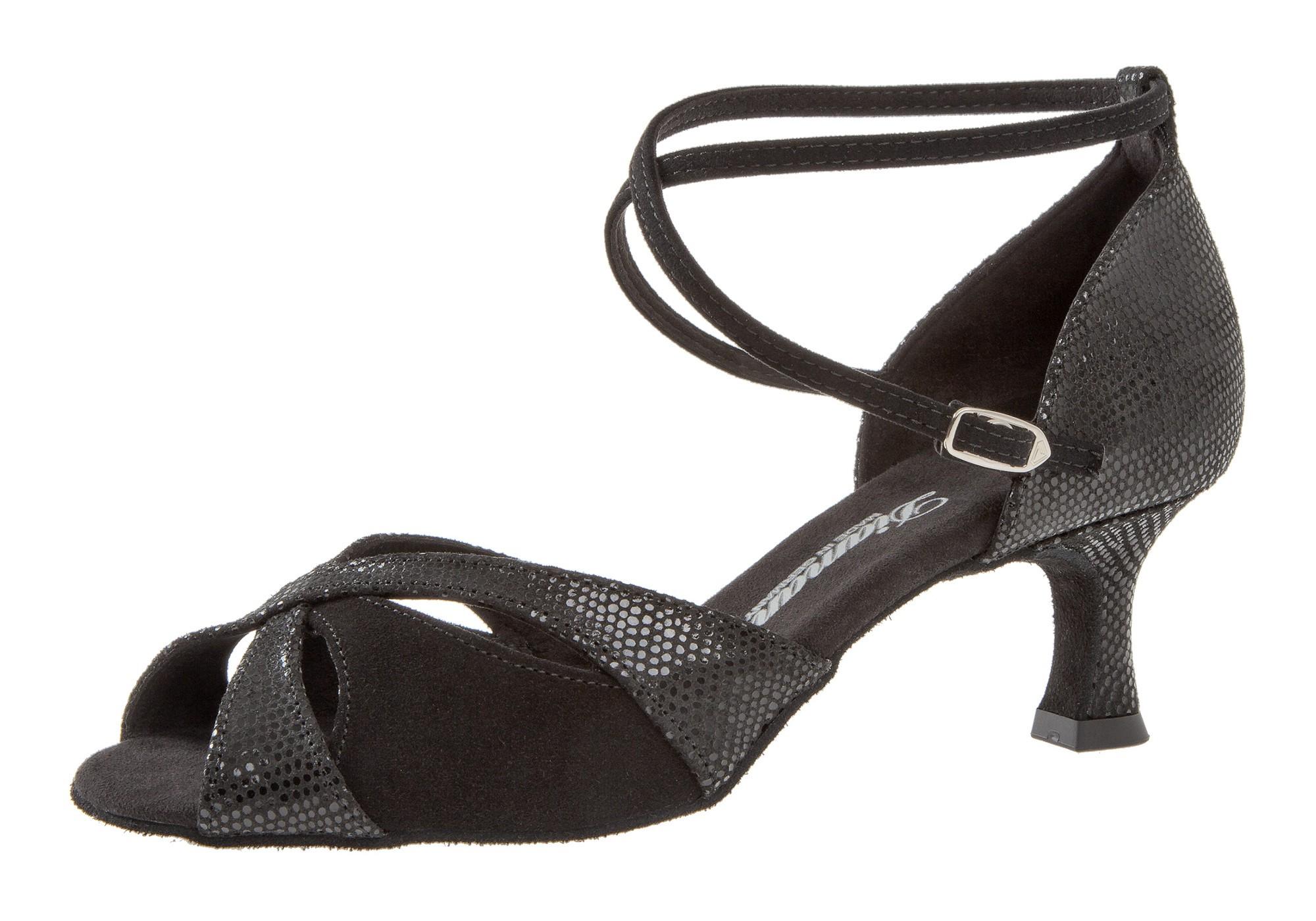 Diamant Damen Tanzschuh Latein 141-077-084 schwarz Velour