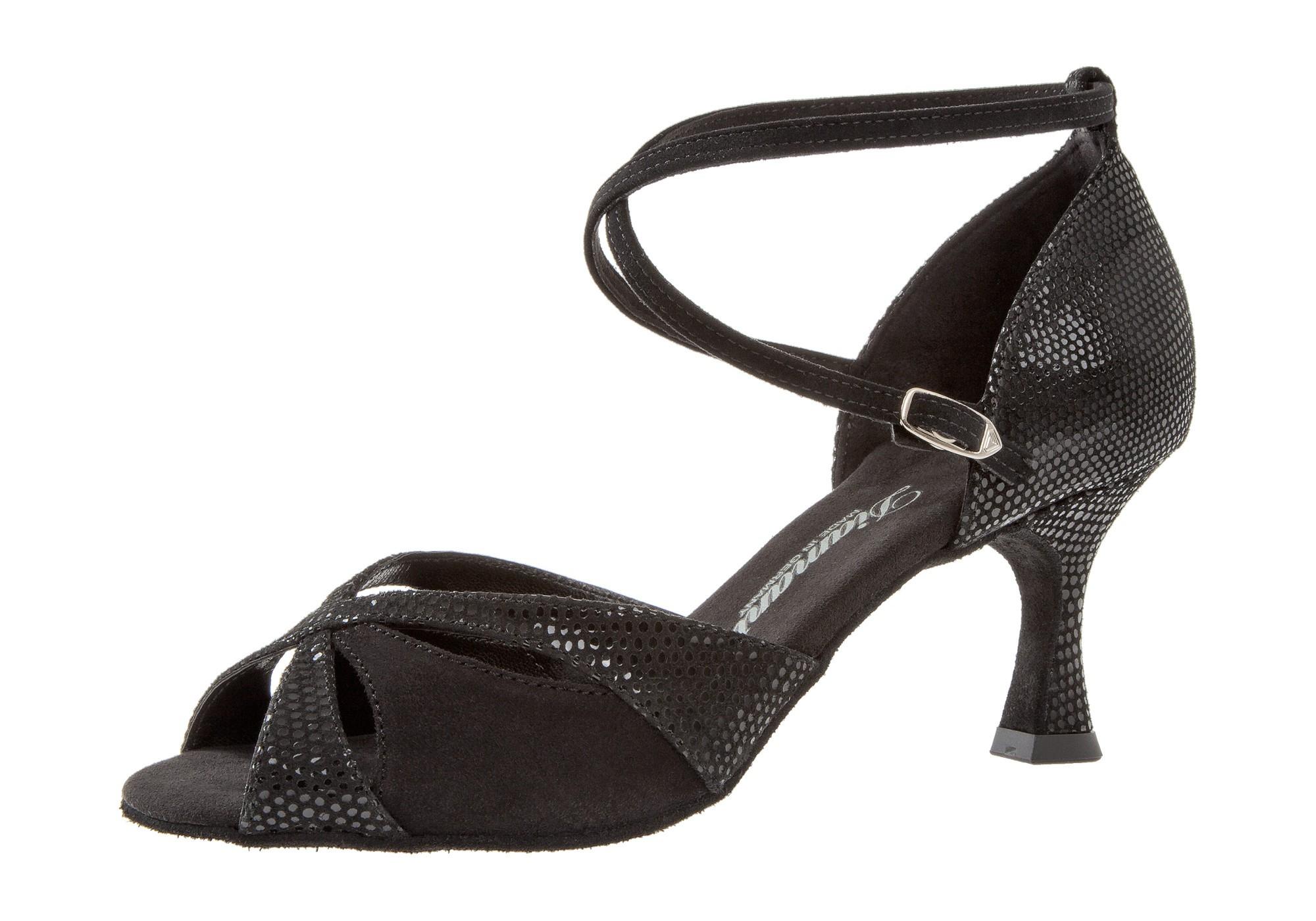 Diamant Damen Tanzschuh Latein 141-087-084 schwarz Velour