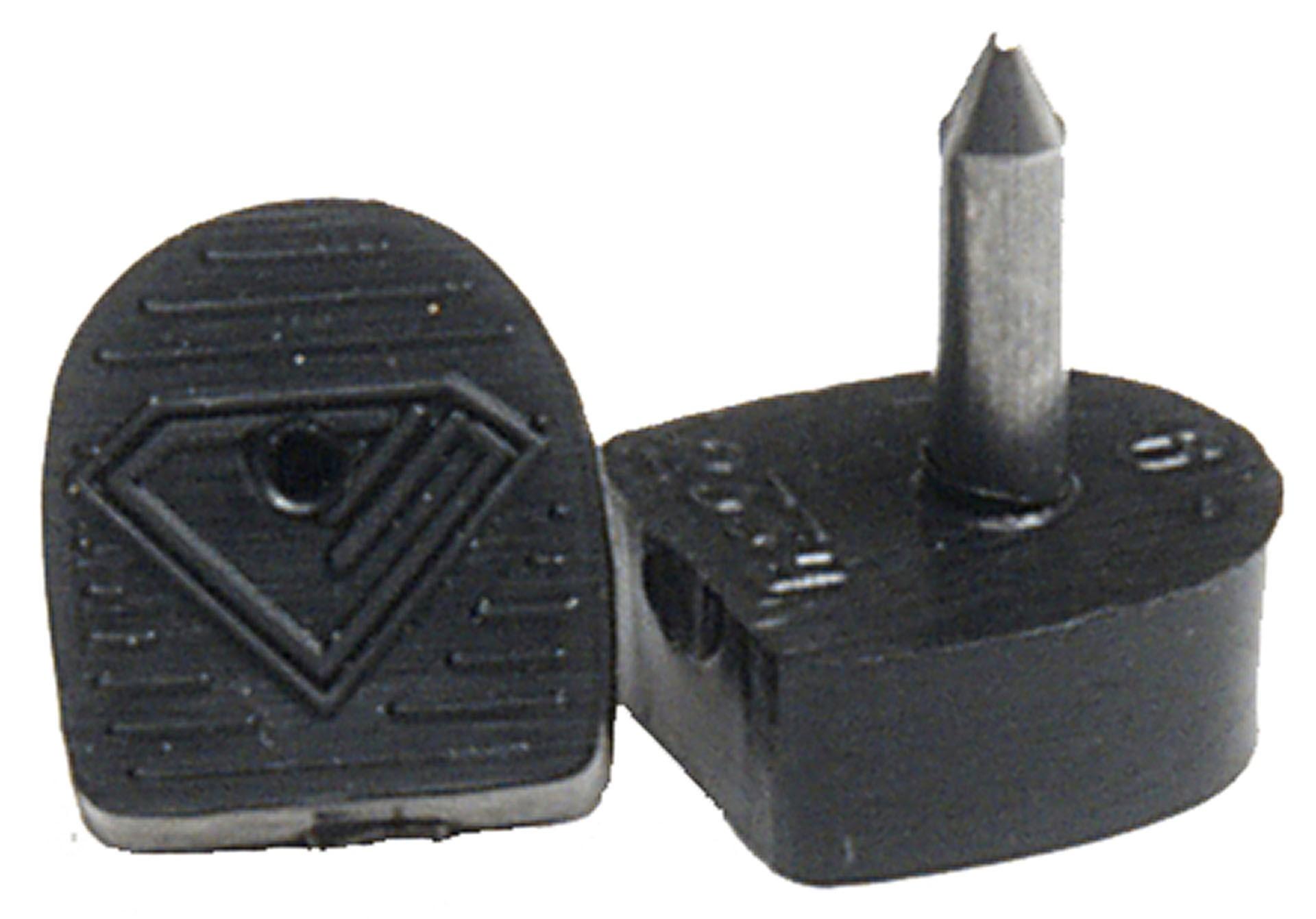 Diamant Tanzschuh Absatzfleck schlank schwarz HW01918, schwarz