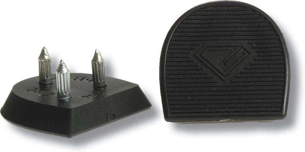 Diamant Tanzschuh Absatzfleck Spanisch HW01961, schwarz