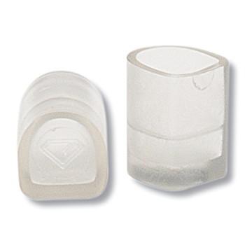 Diamant Tanzschuh Absatzschoner schlank transparent HW02921, transparent