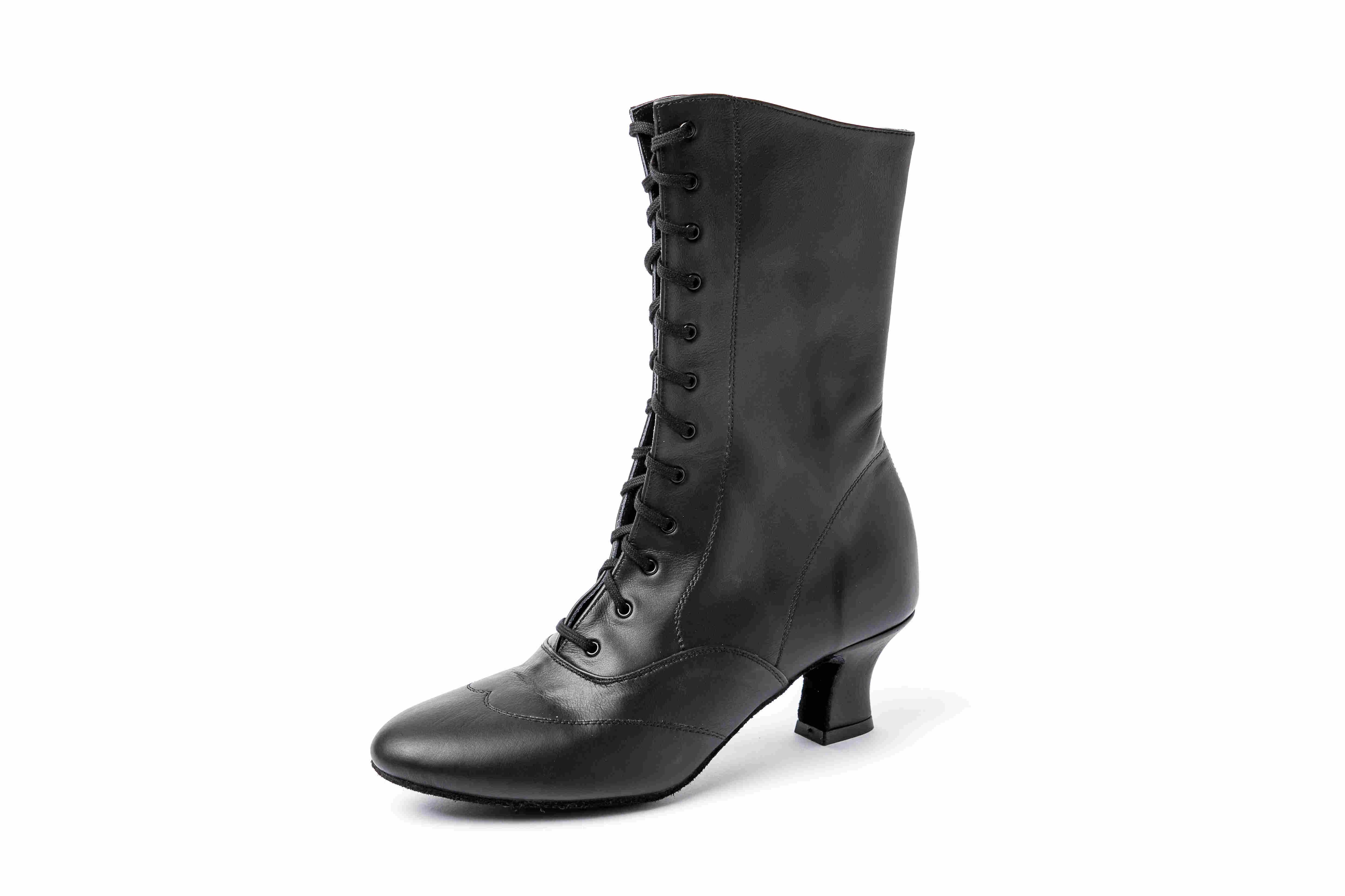 Harr Damenschnürstiefelette mit Ziernaht schwarz 625-111-120 schwarz
