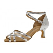 Diamant Damen Tanzschuh Latein 035-077-013 silber Synth.