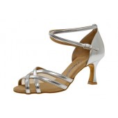 Diamant Damen Tanzschuh Latein 035-087-013 silber Synth.