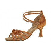 Diamant Damen Latein Tanzschuh 109-087-379 dark tan Satin