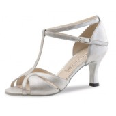 Werner Kern Damen Tanzschuh Astrid Nappa perl silber 6,5 Nappa perl silber