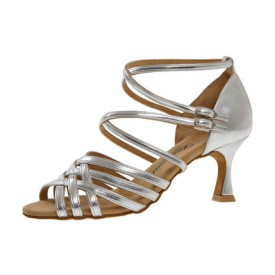 Diamant Damen Tanzschuh Latein 108-087-013 silber Synthetik