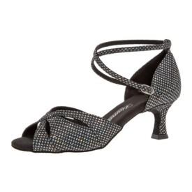 Diamant Damen Tanzschuh Latein 141-077-183 schwarz-silber Hologramm