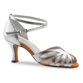 Anna Kern Damen Tanzschuh 790-60 silver Nappa silver