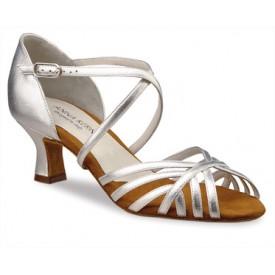 Anna Kern Damen Tanzschuh 908-50 Nappa silver