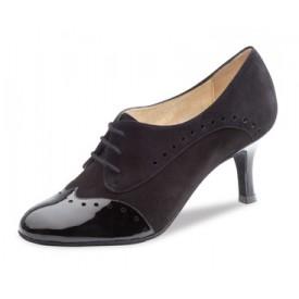 Nueva Epoca Damen Tanzschuh Karen Suede black 6 Suede / Patent black
